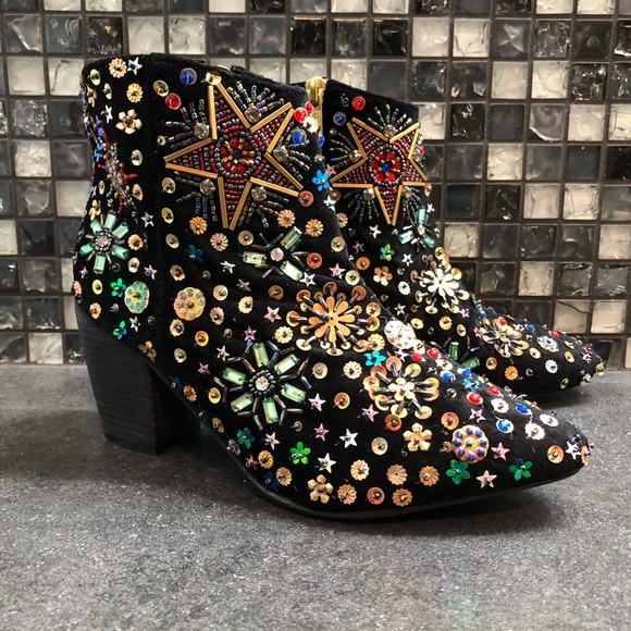 Sequin Ankle Boots   Poshmark
